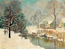 Winter am Bach 1960